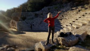 Butrinto parkas, albanija, albanijos amfiteatras, saranda